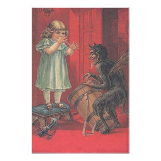 Krampus Kidnapping Girl Toy Photo Print