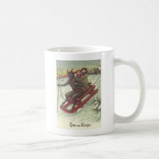 Krampus Kidnapping Kids On Sleigh Coffee Mug
