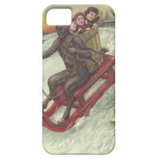 Krampus Kidnapping Kids On Sleigh iPhone SE/5/5s Case