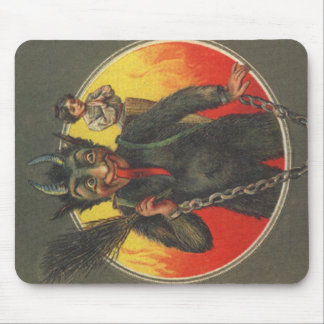 Krampus Kidnapping Woman Mouse Pad