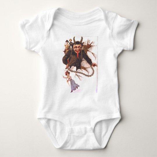 Krampus Kidnapping Women Baby Bodysuit