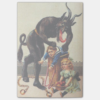 Krampus Kids Basket Holiday Christmas Sticky Notes