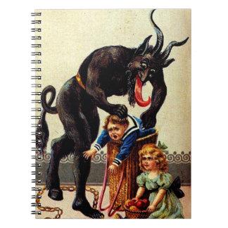 Krampus Kids in Basket Christmas Holiday Xmas Notebook