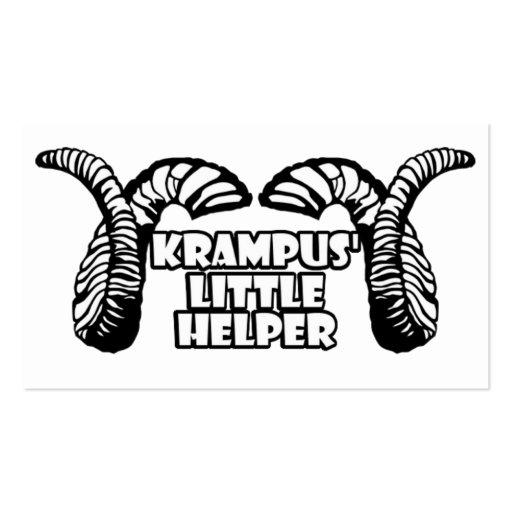 Krampus' Little Helper Business Cards