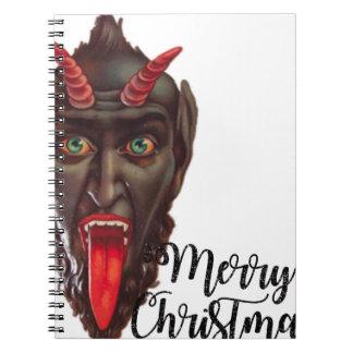 krampus merry christmas notebook