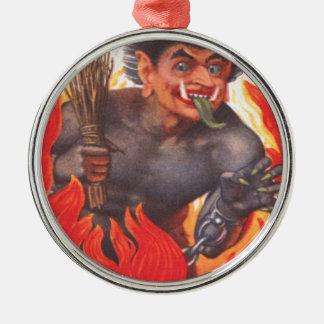 Krampus Metal Ornament