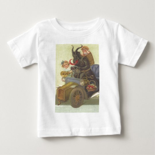 Krampus Obducting Little Girls In Car Baby T-Shirt