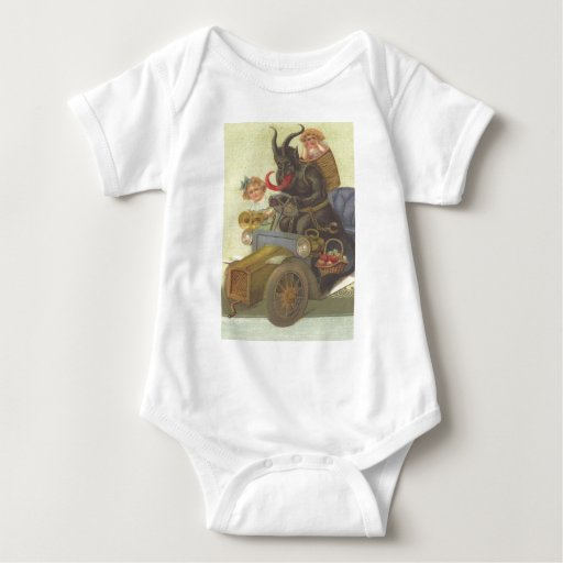 Krampus Obducting Little Girls In Car Tee Shirt