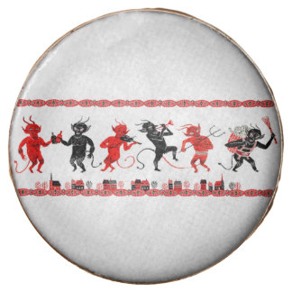 Krampus Party Ornament Design Chocolate Dipped Oreo