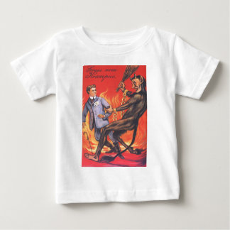 Krampus Punishing Adult Baby T-Shirt