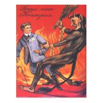 Krampus Punishing Adult Postcard