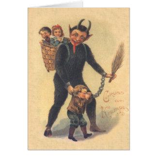 Krampus Punishing Bad Child Cards
