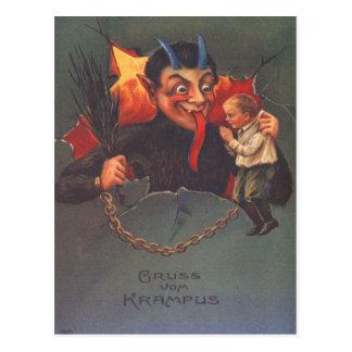 Krampus Punishing Child Post Cards