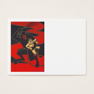 Krampus Punishing Child With Switch Business Card