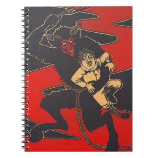 Krampus Punishing Child With Switch Notebook