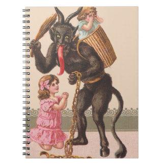 Krampus Punishing Children Switch Chain Notebook
