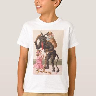 Krampus Punishing Children Switch Chain T-Shirt