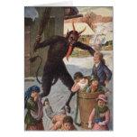Krampus Punishing Kidnapping Children Winter Card