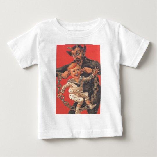Krampus Punishing Little Boy Baby T-Shirt