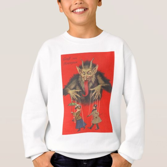 Krampus Puppeteering Adults Sweatshirt
