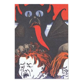 """Krampus que castiga a niños invitación 5"""" x 7"""""""