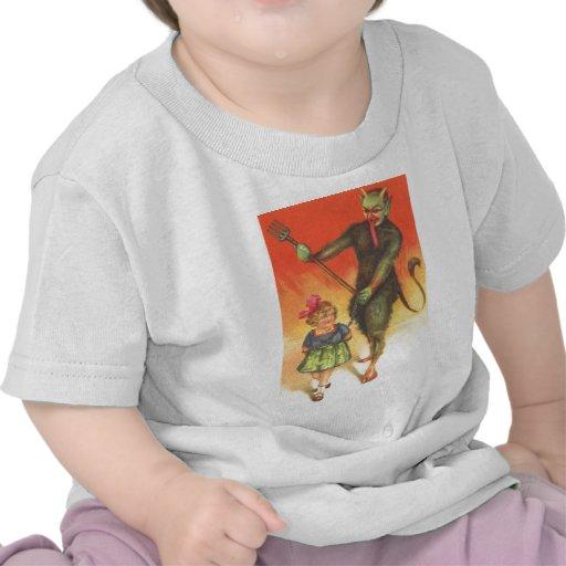 Krampus que castiga al niño camiseta