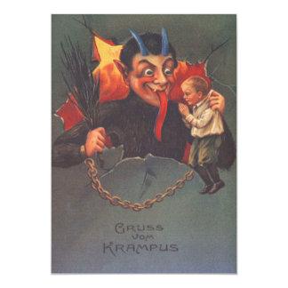 """Krampus que castiga al niño invitación 5"""" x 7"""""""