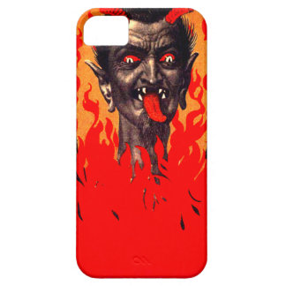 Krampus que emerge de infierno funda para iPhone 5 barely there