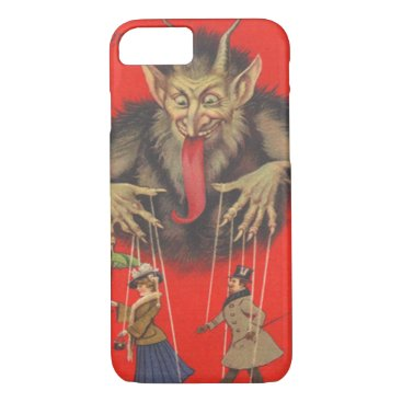 Halloween Themed Krampus Red Puppeteer Puppets Tongue iPhone 8/7 Case