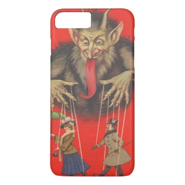 Halloween Themed Krampus Red Puppeteer Puppets Tongue iPhone 8 Plus/7 Plus Case