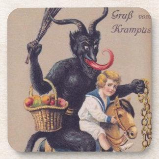 Krampus Rocking Horse Beverage Coaster