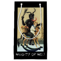 Krampus Rocking Horse Demon Holiday Christmas Xmas Small Gift Bag