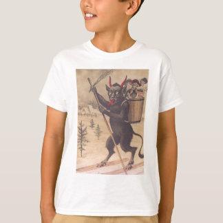 Krampus Skiing Kidnapping Women T-Shirt