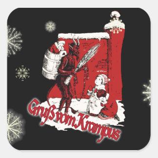 Krampus Snow Day Square Sticker