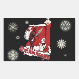 Krampus Snow Day Rectangular Sticker