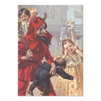 Krampus Spanking Bad Child Card
