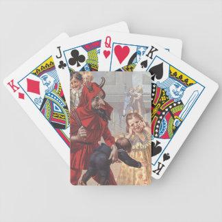 Krampus Spanking Child Bicycle Playing Cards