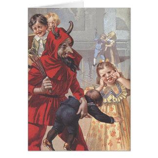 Krampus Spanking Child Greeting Card