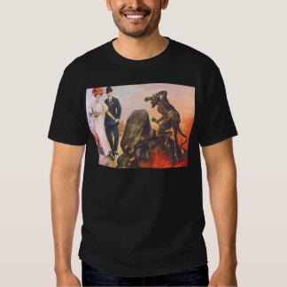 Krampus Stalking Adult Couple T-shirts