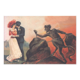 Krampus Stalking Couple Hell Chain Photo Print