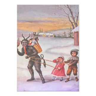 Krampus Stealing Children & Toys Card