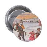 Krampus Stealing Toys & Children 2 Inch Round Button