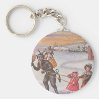 Krampus Stealing Toys & Children Keychain