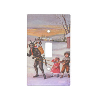 Krampus Stealing Toys & Children Light Switch Cover