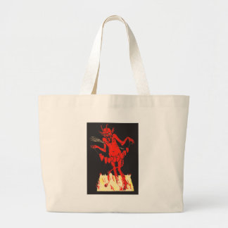 Krampus Switch Hearts On A String Large Tote Bag