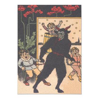 Krampus Taking Away Bad Children Card