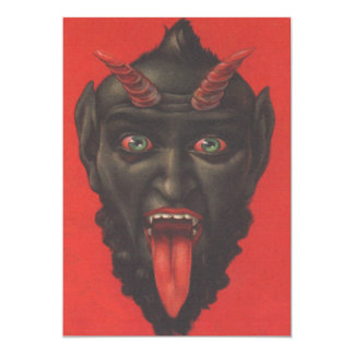 Krampus With His Tongue Out Card