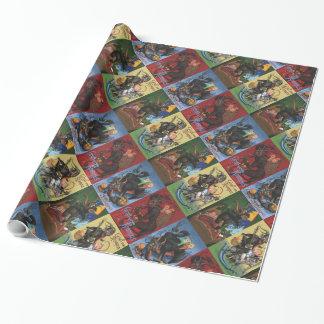 Krampus wrapping paper