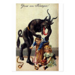 Krampus y el suyo saco 2 tarjetas postales