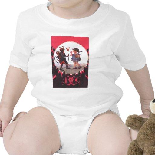 Krampus y niña camisetas